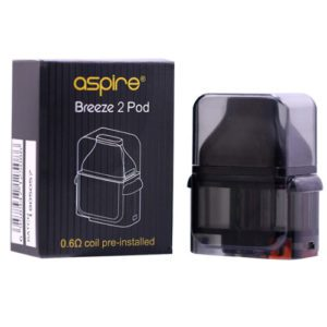 Aspire Breeze 2 Replacement Pod with Packaging Hardware at Smokey Joes